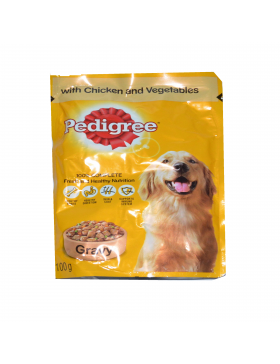 Pedigree Chicken & Rice Flavor in Wet Gravy for Puppies (Labradors, Pugs, etc.) 100g (