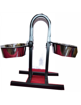 Adjustable Feeding Stand U Type With 2 Bowls