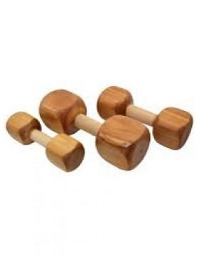 Dog wooden dumbbell for teething and training